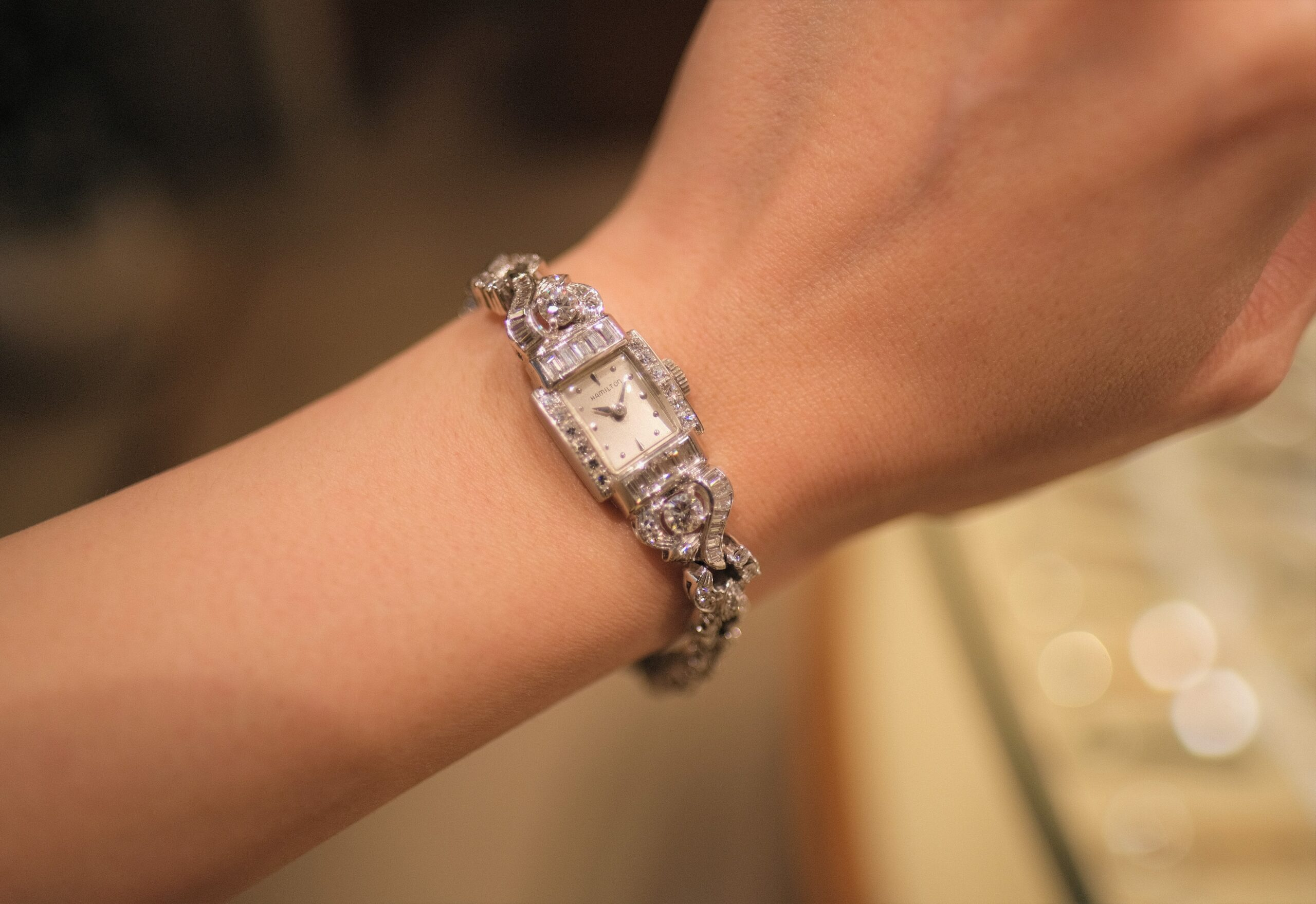 アンティークハミルトンダイヤモンドブレスレット Antique Hamilton diamondbracelet